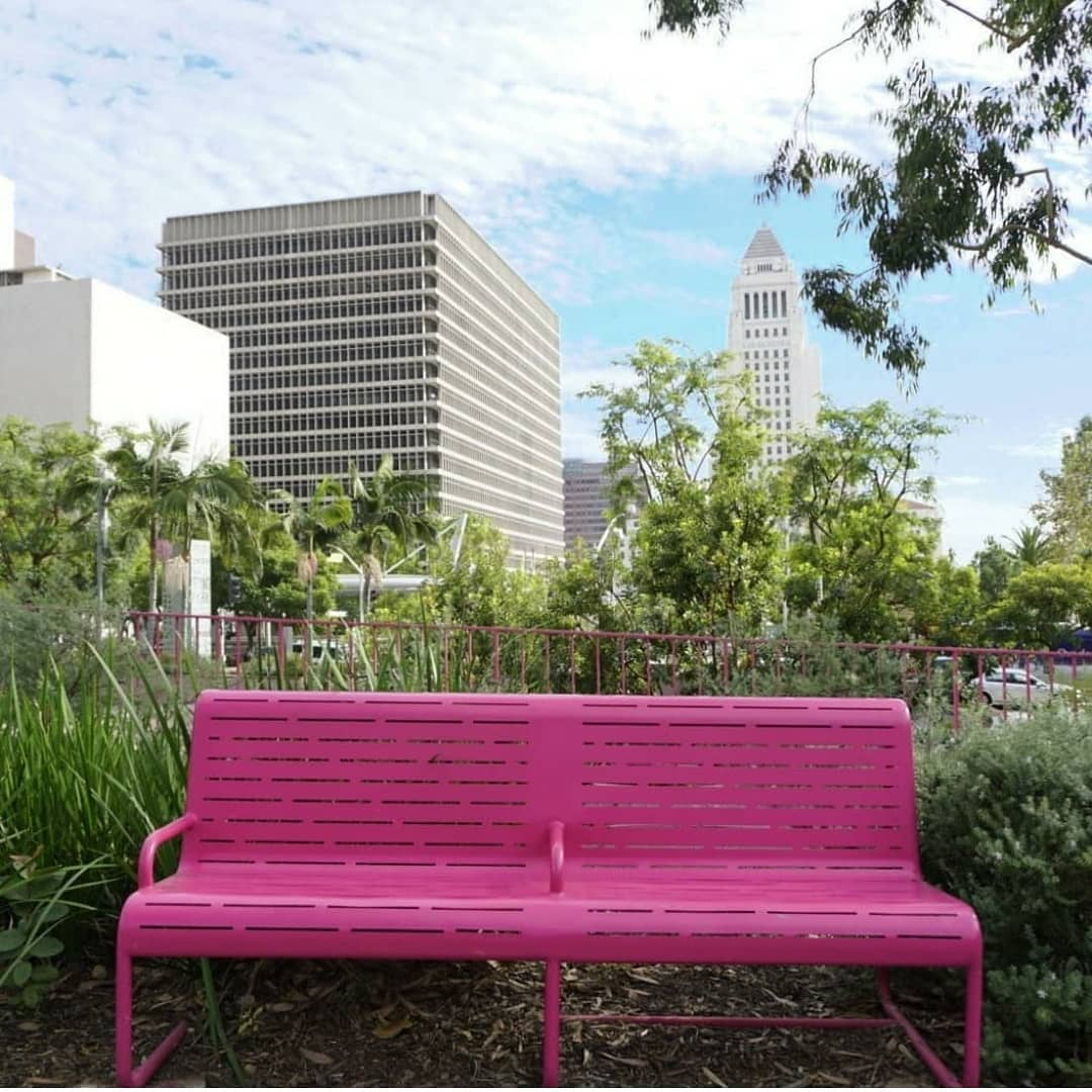 Grand Park pink bench
